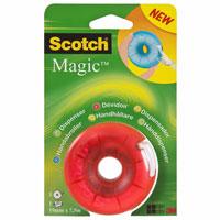 Диспенсер для клейкой ленты Scotch, цвет: красныйFT510280553Вашему вниманию предлагается яркий, веселый и компактный диспенсер с лентой Scotch Magic внутри. Он герметично закрывается, защищая клейкую ленту, поэтому его очень удобно носить с собой. Подходит для клейкой ленты шириной до 19 мм и длиной до 33 м. Характеристики: Материал: пластик. Размер диспенсера: 7 см х 7 см х 3,5 см. Цвет: красный. Изготовитель: Китай.