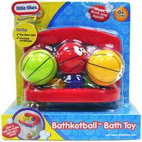 Игровой набор для ванны Баскетобол605987Игровой набор для ванны Баскетбол привлечет внимание вашего малыша и сделает процесс купания веселым и интересным. Набор состоит из баскетбольной корзины с сеткой и трех разноцветных мячей с забавными рожицами. Корзина крепится на стене ванной комнаты с помощью присосок. Малышу необходимо не только попасть в цель, но и заработать как можно больше очков, при помощи специального счетчика установленного на одной из сторон корзины. Ваш малыш будет часами играть с набором, придумывая различные истории. Порадуйте его таким замечательным подарком!