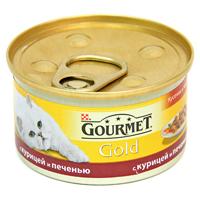 Консервы для кошек Gourmet Gold, с курицей и печенью, 85 г12130919Корм Gourmet Gold консервированный полнорационный для взрослых кошек, с курицей и печенью. Рекомендации по кормлению: Для взрослой кошки среднего веса требуется 4 баночки корма Gourmet Gold в день. Кормление необходимо разделить минимум на два приема. Индивидуальные потребности животного могут отличаться, поэтому норма кормления должна быть скорректирована для поддержания оптимального веса вашей кошки. Для беременных и кормящих кошек - кормление без ограничений. Подавать корм комнатной температуры. Следите, чтобы у вашей кошки всегда была чистая, свежая питьевая вода. Условия хранения: Закрытую банку хранить в сухом прохладном месте. После открытия продукт хранить максимум 24 часа. Состав: мясо и субпродукты (из которых курицы 4%, печени 4%), злаки, сахара, минеральные вещества. Гарантируемые показатели: влажность 81,5%, белок 7,5%, жир 3,7%, сырая зола 1,3%, сырая клетчатка 0,5%. Добавленные...