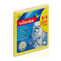 Набор салфеток Vileda, 4 шт7283-4Набор Vileda состоит из четырех губчатых салфеток. Салфетки изготовлены из натуральных материалов и предназначены для всех видов домашних работ. Салфетки имеют удобную волнообразную форму и отлично впитывают влагу. Моют, не оставляя разводов и ворсинок.