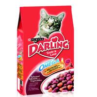 Корм сухой Darling для кошек, с мясом и овощами, 2 кг12047929Корм сухой Darling разработан специально для взрослых кошек. Изготовленный с птицей или мясом, он помогает поддерживать здоровую, блестящую, приятную на ощупь шерсть вашего питомца. Состав: злаки и продукты переработки злаков, продукты переработки мяса и мясных субпродуктов (минимум 4% мясо птицы), животный жир, соевая мука, вкусоароматическая кормовая добавка, продукты переработки овощей (минимум 0,5%), минеральные вещества, регулятор кислотности, антиокислитель, красители, консерванты. Анализ: сырой белок 27,0 г, влажность 8,0 г, сырой жир 7,0 г, сырая зола 7,0 г, сырая клетчатка 2,5 г, кальция 1,4 г, медь 1,7 мг, фосфор 1,4 г, железо 17 мг, калий 0,8 г, марганец 4,0 мг, натрий 0,2 г, цинк 18 мг, магний 0,17 г, селен 32 мкг, линоленовая кислота 0,2 г, линолевая кислота 2,3 г, витамин А 850 МЕ, витамин D 85 МЕ, витамин Е 7,5 мг, витамины группы В 170 мг. Товар сертифицирован.