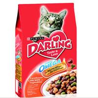 Корм сухой Darling для кошек, с птицей и овощами, 2 кг12047940Новый корм для кошек Darling с омега жирными кислотами обеспечивает превосходное качество питания вашей кошки и помогает поддерживать здоровую, блестящую и приятную на ощупь шерсть вашего питомца. Состав: злаки и продукты переработки злаков, продукты переработки мяса и и мясных субпродуктов (минимум 4% мясо птицы), животный жир, соевая мука, вкусоароматическая кормовая добавка, продукты переработки овощей (минимум 0,5%), антиокислитель, красители, консерванты. Пищевая ценность: сырой белок 27,0 г, влажность 8,0 г, сырой жир 7,0 г, сырая зола 7,0 г, сырая клетчатка 2,5 г, кальция 1,4 г, медь 1,7 мг, фосфор 1,4 г, железо 17 мг, калий 0,8 г, марганец 4,0 мг, натрий 0,2 г, цинк 18 мг, магний 0,17 г, селен 32 мкг, линоленовая кислота 0,2 г, линолевая кислота 2,3 г, витамин А 850 МЕ, витамин D 85 МЕ, витамин Е 7,5 мг, витамины группы В 170 мг. Вес: 2 кг.