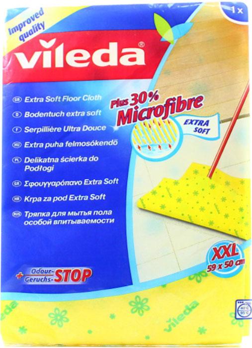 Тряпка для мытья пола Vileda Extra Soft3515-9Тряпка Vileda Extra Soft предназначена для мытья полов. Тряпка обладает высокой впитывающей способностью и легко выжимается. Отлично собирает грязь и влагу. Не оставляет разводов.