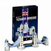 CubicFun Тауэрский мост, 41 элементC702hТауэрский мост - уникальный конструктор-макет, с которым можно играть как дома, так и на улице. Составные элементы конструктора красочны и достаточно большие для того, чтобы даже маленькому ребенку было удобно и комфортно в него играть. Достаточно просто соединить элементы конструктора по приведенной схеме, и вы получите объемную модель известного моста. Тауэрский мост - разводной мост в центре Лондона над рекой Темзой, недалеко от Лондонского Тауэра. Центральный пролет моста между башнями разбит на два подъемных крыла, которые для пропуска судов могут быть подняты на угол 83°. Каждое из более чем тысячетонных крыльев снабжено противовесом, минимизирующим необходимое усилие и позволяющим развести мост за одну минуту. Для пешеходов конструкцией моста предусматривалась возможность пересекать мост даже во время развода пролета. Для этой цели, кроме обычных тротуаров, расположенных по краю проезжей части, в средней части были сконструированы пешеходные галереи, соединяющие башни...