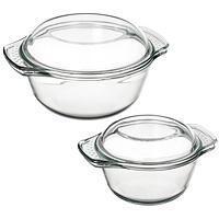 Набор кастрюль Unit из закаленного стекла, 2 предмета. UCW-5110UCW-5110С набором кастрюль Unit, выполненный из закаленного стекла, вы всегда будете готовить вкусную и полезную пищу. Посуда из закаленного стекла обладает замечательными гигиеническими свойствами. Стекло совершенно инертно к любой пище и не дает никаких посторонних привкусов и запахов. Посуда торговой марки Unit функциональна и универсальна, изысканный дизайн и эргономичность в использовании превратят будничную обязанность в настоящее удовольствие и подвигнут вас на создание настоящих кулинарных шедевров. В набор входит 2 кастрюли с крышками. Основные достоинства предлагаемой кастрюли: посуда из закаленного стекла не поддается образованию накипи; в этой посуде можно хранить готовое блюдо; можно использовать в микроволновой, конвекционной печи и духовке; подходит для хранения продуктов в холодильнике и морозильной камере; можно мыть в посудомоечной машине; устойчива к температурам от -30°C до +250°C; идеально подходит для сервировки...