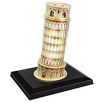 CubicFun Пизанская башня, 15 элементовL502hПизанская башня - уникальный конструктор-макет с иллюминацией. При сборке модели не требуется дополнительных инструментов. Красочное освещение придает дополнительную выразительность зданию. Достаточно просто соединить элементы конструктора по приведенной схеме, и вы получите объемную модель известного здания. Пизанская башня - колокольная башня, часть ансамбля городского собора Санта-Мария Ассунта в городе Пиза. Строительство башни было закончено в 1360 году. Башня получила прозвище Падающая башня и всемирную известность благодаря тому, что она сильно наклонена и как бы падает. Высота башни составляет 55,86 м от земли на самой низкой стороне и 56,7 м на самой высокой стороне. Ширина стен в основе составляет 4,09 м и вверху 2,48 м. Ее масса оценивается в 14453 т. Текущий наклон составляет около 5 градусов. (отклонение примерно 4,9 м от вертикали). Башня имеет 294 ступеньки. Строительство башни велось в три этапа, начиная с 9 августа 1173, и с двумя длинными...