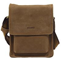 Сумка мужская Edmins, цвет: коричневый. 1019 B-1SU1019 B-1SU d.brownМужская сумка Edmins выполнена из натуральной кожи коричневого цвета с контрастной отстрочкой. Сумка имеет одно главное отделение, закрывающееся на застежку-молнию и сверху клапаном на магнит. Внутри отделения есть карман на молнии, кармашек для мобильного телефона, накладной карман для бумаг и два фиксатора для пишущих принадлежностей. Также под клапаном расположен глубокий карман для документов. На задней стенке сумки есть дополнительный карман на застежке-молнии. Для удобства предусмотрена актуальная ручка-лента регулируемой длины. Сегодня мужская сумка - необходимый аксессуар для современного мужчины. Edmins предлагает для сильной половины человечества новую коллекцию сумок. Они элегантны, удобны и прекрасно дополнят образ владельца, сделав его при этом завершенным и стильным.