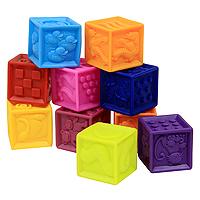 Набор кубиков One Two Squeeze68602Набор кубиков One Two Squeeze привлечет внимание малыша и не позволит ему скучать. Набор состоит из десяти мягких разноцветных кубиков с рельефными картинками. Кубики изготовлены из безопасного материала, что позволяет вашему малышу их грызть, также с ними можно плескаться в воде, превращая процесс купания в интересную игру. Игра с кубиками развивает зрительное восприятие, наблюдательность и внимание, мелкую моторику рук и цветовосприятие. Характеристики: Размер кубика: 5,5 см х 5,5 см х 5,5 см. Рекомендуемый возраст: от 6 месяцев до 3 лет. Размер упаковки: 17,5 см x 23 см x 6 см.