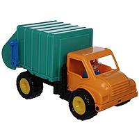 Battat Грузовик-мусоровоз68021Игрушка Грузовик-мусоровоз - послужит прекрасным подарком для вашего малыша и не позволит ему скучать. Грузовик с игрушечным водителем оснащен наклоняющейся кабиной, двумя мусорными баками и рычагом, который открывает люк с баками. Порадуйте своего малыша такой замечательной игрушкой!