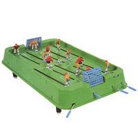 Настольная игра Футбол. 140250140250Настольная игра Футбол станет отличным подарком не только ребенку, но и взрослому, любящему спортивные игры. Игра состоит из игрового поля с воротами, на котором располагаются две футбольные команды по шесть игроков в каждой. Игровое поле обрамлено барьером и может устанавливаться на специальные ножки. Игроки с помощью рукояток управляют фигурками футболистов, установленными на стержнях, стремясь забить мяч в ворота противника. Игра вырабатывает быстроту реакции, меткость и точность движений и предназначена для игры в домашних, школьных и клубных условиях.