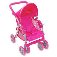 1TOY Транспорт для кукол Прогулочная коляска Премиум цвет розовыйТ52267Легкая складная прогулочная коляска для кукол Премиум очень компактна, удобна в эксплуатации и комфортабельна. Рама коляски сделана из облегченного металла. Ручка коляски для более удобного использования прорезинена. Внизу имеется корзина, в которую ваша малышка может положить все, что ей нужно. Козырек коляски регулируется по высоте, его можно снять совсем. На сиденье имеются специальные ремни, чтобы кукла не упала. Спереди у коляски четыре колеса, что придает большую устойчивость. Коляска для куклы удобна в применении, как на улице, так и в помещении. Благодаря этим качествам коляску всегда хочется брать на прогулку, которая станет незабываемой, тем более, что на улице можно покатать свою любимую куклу.