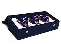 Комплект из 3 ароматических свечей. Фарфор, золочение. House of Faberge, 90-е гг. ХХ века