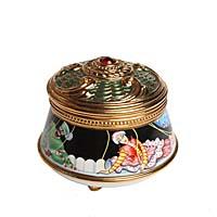 Музыкальная шкатулка Петрушка. Металл, деколь, эмаль, House of Faberge, 1970-е гг