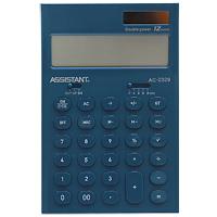 Калькулятор Assistant AC-2329, 12-разрядный, цвет: морской волныAC-2329MurenaСтильный настольный калькулятор в ярком цветном корпусе с круглыми чувствительными кнопками оснащен большим 12-разрядным матричным дисплеем. Позволяет вычислять проценты, подсчитывать итоговую сумму вычислений. Калькулятор имеет двойную систему питания: от солнечного элемента и от батареи, - что гарантирует ему бесперебойную работу на несколько лет. Память, 12-ти разрядный дисплей, Вычисление процентов, Вычисление квадратного корня, Цветной пластиковый корпус, Двойное питание, Пластиковые кнопки, Итоговая сумма, Удаление последнего введенного символа.
