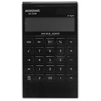 Калькулятор Assistant AC-2326, 12-разрядный, цвет: черныйAC-2326BlackЯркий и практичный настольный калькулятор имеет матричный 12-разрядный большой дисплей, цветной пластиковый корпус (3 различных цвета) и прозрачную удобную чувствительную клавиатуру. Калькулятор идеален для нанесения фирменного логотипа. Калькулятор имеет двойную систему питания: от солнечного элемента и от батареи, - что гарантирует ему бесперебойную работу на несколько лет. С этим калькулятором Вы точно не забудете, какой расчет Вы собирались провести: подскажет дисплей с функцией отображения проводимого действия. Память Двойное питание 12-ти разрядный матричный дисплей Вычисление процентов Вычисление квадратного корня Цветной пластиковый корпус Прозрачные пластиковые кнопки Отображение проводимого действия Удаление последнего введенного символа Характеристики: Размер калькулятора: 18,3 x 10,7 x 1,5 см. Размер дисплея: 9,4 см х 2,6 см. Цвет: черный. Изготовитель: Китай.