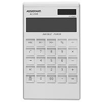 Калькулятор Assistant AC-2326, 12-разрядный, цвет: белыйAC-2326WhiteЯркий и практичный настольный калькулятор имеет матричный 12-разрядный большой дисплей, цветной пластиковый корпус (3 различных цвета) и прозрачную удобную чувствительную клавиатуру. Калькулятор идеален для нанесения фирменного логотипа. Калькулятор имеет двойную систему питания: от солнечного элемента и от батареи, - что гарантирует ему бесперебойную работу на несколько лет. С этим калькулятором Вы точно не забудете, какой расчет Вы собирались провести: подскажет дисплей с функцией отображения проводимого действия. 12-ти разрядный дисплей Вычисление процентов Цветной пластиковый корпус Двойное питание Прозрачные пластиковые кнопки Отображение проводимого действия Удаление последнего введенного символа Характеристики: Размер калькулятора: 18,3 x 10,7 x 1,5 см. Размер дисплея: 9,4 см х 2,6 см. Цвет: белый. Изготовитель: Китай.