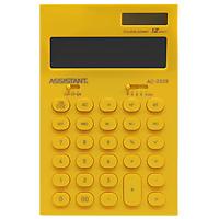 Калькулятор Assistant AC-2329, 12-разрядный, цвет: желтыйAC-2329YellowСтильный настольный калькулятор в ярком цветном корпусе с круглыми чувствительными кнопками оснащен большим 12-разрядным матричным дисплеем. Позволяет вычислять проценты, подсчитывать итоговую сумму вычислений. Калькулятор имеет двойную систему питания: от солнечного элемента и от батареи, - что гарантирует ему бесперебойную работу на несколько лет. Память 12-ти разрядный дисплей Вычисление процентов Вычисление квадратного корня Цветной пластиковый корпус Двойное питание Пластиковые кнопки Итоговая сумма Удаление последнего введенного символа