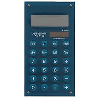 Калькулятор Assistant AC-1193, 8-разрядный, цвет: зеленыйAC-1193MarenoСтильный карманный калькулятор в ярком цветном корпусе с круглыми резиновыми кнопками, окрашенными в цвет корпуса - это не только помощник в вычислениях, но и стильный деловой аксессуар. Калькулятор оснащен 8-разрядным дисплеем-линзой, увеличивающим цифры. Позволяет вычислять проценты и запоминать промежуточные результаты вычислений. Калькулятор имеет двойную систему питания: от солнечного элемента и от батареи. 8-разрядный дисплей Вычисление процентов Цветной пластиковый корпус Двойное питание Резиновые кнопки Дисплей с выпуклой линзой Характеристики: Размер калькулятора: 12,1 x 6,1 x 0,9 см. Размер дисплея: 4,5 см х 1,6 см. Цвет: зеленый. Изготовитель: Китай.