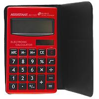 Калькулятор Assistant AC-1121, 8-разрядныйAC-1121RDСтильный карманный калькулятор в ярком цветном корпусе оснащен большим 8-разрядным дисплеем. Металлическая лицевая панель в стиле Hi-tech делает этот калькулятор модным и современным. Калькулятор имеет двойную систему питания: от солнечного элемента и от батареи, - что гарантирует ему бесперебойную работу на несколько лет. 8-разрядный дисплей Вычисление процентов Двойное питание Большой дисплей ПВХ обложка Чувствительная клавиатура Пластиковые кнопки Металлическая лицевая панель Характеристики: Размер калькулятора: 11,8 x 6,7 x 0,85 см. Размер дисплея: 5,3 см х 1,7 см. Материал: пластик, ПВХ. Цвет: красный. Изготовитель: Китай.