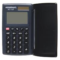 Калькулятор Assistant AC-1127, 8-разрядныйAC-1127Компактный карманный калькулятор выполнен в классическом стиле, оснащен 8-разрядным большим дисплеем, чувствительными кнопками и пластиковой крышкой, помогающей защитить калькулятор от внешних воздействий. Калькулятор имеет двойную систему питания: от солнечного элемента и от батареи, - что гарантирует ему бесперебойную работу на несколько лет. 8-разрядный дисплей Вычисление процентов Двойное питание Резиновые кнопки Большой дисплей Чувствительная клавиатура Пластиковая крышка Характеристики: Размер калькулятора: 9,6 x 6,3 x 1,2 см. Размер дисплея: 4,2 см х 2,3 см. Цвет: черный. Изготовитель: Китай.