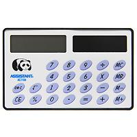 Калькулятор Assistant AC-1106, 8-разрядныйAC-1106Необычная форма карманного калькулятора позволит Вам удобно разместить его в ладошке и легко произвести необходимые подсчеты. Калькулятор оснащен 8-разрядным большим дисплеем и горизонтальной формой. Питается калькулятор от солнечного элемента. 8-разрядный дисплей Вычисление процентов Солнечная батарея Большой дисплей ПВХ обложка Размером с кредитную карточку Характеристики: Размер калькулятора: 5,4 x 8,6 x 0,35 см. Размер дисплея: 3,6 см х 1,1 см. Материал: пластик, ПВХ. Цвет: белый. Изготовитель: Китай.