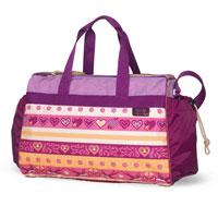 Спортивная сумка с двумя боковыми карманами и длинной ручкой.