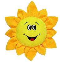 Мягкая игрушка-подушка ЦветикПСЛ1Игрушка-подушка Цветик, выполненная в виде желтого подсолнуха, очень мягкая и приятна на ощупь, она станет прекрасным украшением интерьера детской комнаты, а также любимой вещью вашего малыша. Эта забавная подушка не оставит равнодушным не только ребенка, но и взрослого.