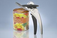 Нож консервный Cando13470Консервный нож Cando безопасно открывает жестяные банки, не оставляя острых краев. Нож удобен в использовании благодаря эргономичной ручке и специальному захвату для снятия крышки. Режущая часть ножа выполнена из высококачественной нержавеющей стали.