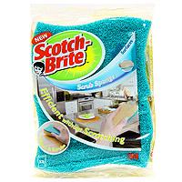 Набор целлюлозных губок Scotch-Brite, для деликатной чистки, цвет: голубой, 2 штFN510079778Целлюлозная губка для деликатной чистки Scotch-Brite предназначена для ухода за посудой со специальным покрытием, за стеклом, фарфором, керамикой, пластиком, кафелем, хромированными поверхностями. Специальное латексное покрытие делает волокна более мягкими, а пластиковые частицы заменяют привычные абразивные гранулы. Также может применяться на кухне и в ванной комнате. Преимущества: инновационный продукт на рынке чистящих средств для деликатной и эффективной чистки с применением технологии Ультра Флекс, являющейся гарантией деликатной чистки специальное латексное покрытие делает волокна более мягкими, а пластиковые частицы заменяют привычные абразивные гранулы целлюлозный слой обладает высокими впитывающими свойствами и удаляет остатки воды с поверхности после чистки имеет яркий дизайн.
