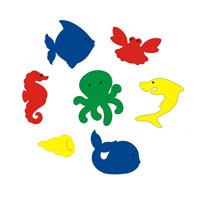 Набор для ванны Подводный мир. 5539055390Набор для ванны Подводный мир состоит из 7 фигурок различных морских обитателей (акула, ракушка, рыбка, осьминог, краб, морской конек и кит). Фигурки хорошо держатся на воде и легко прилипают к гладким поверхностям. Они не оставляют следов и без труда отклеиваются. Набор для ванны Подводный мир развивает у ребенка воображение, мелкую моторику, концентрацию внимания и цветовое восприятие. С таким набором купание превратится в веселое и увлекательное занятие! Характеристики: Средний размер фигурки: 12 см х 7 см. Уважаемые клиенты! Обращаем ваше внимание на возможные изменения в цветовом дизайне некоторых элементов товара. Поставка осуществляется в зависимости от наличия на складе.