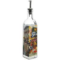 Бутылка для масла Итальянская улица, 0,5 лSI-8041B00-ALБутылка для масла Итальянская улица, выполненная из стекла, позволит украсить любую кухню, внеся разнообразие, как в строгий классический стиль, так и в современный кухонный интерьер. Она легка в использовании, стоит только перевернуть, и вы с легкостью сможете добавить оливковое или подсолнечное масло. Оригинальная бутылка для масла будет отлично смотреться на вашей кухне. Характеристики: Материал: стекло, металл. Высота: 30,5 см. Размер основания: 5,7 см х 5,7 см. Размер упаковки: 6,5 см х 6,5 см х 33 см. Изготовитель: Китай. Артикул: SI-8041B00-AL. SinoGlass - один из крупнейших производителей стеклянной посуды, известной во всем мире. Мировую популярность изделий торговой марки SinoGlass в первую очередь обеспечила группа выдающихся дизайнеров из Европы, Америки и Восточной Азии, работающих на фабрике. Вторым слагаемым успеха данной посуды явился строгий контроль качества на всех этапах производства изделий на самом...