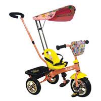 Трехколесный велосипед Navigator Trike Ранетки, цвет: розовый, желтый. Т54161Т54161Детский яркий велосипед Navigator Trike Ранетки выполнен из высококачественной пластмассы и украшен рисунками с изображениями любимых героинь группы Ранетки. Велосипед станет любимым средством передвижения вашего малыша и отлично подойдет для прогулок. Это современный, стильный и красочный велосипед, созданный для маленьких детей, которые еще не так уверенно держат равновесие и не могут управлять взрослым двухколесным велосипедом. Пока малыш мал или, если устал, родители сами смогут управлять велосипедом, благодаря удобной ручке-толкателю с регулируемой высотой. Удобное сиденье с высокой спинкой сделают поездки комфортными. За сиденьем внизу имеется корзина, в которой можно расположить игрушки или сумку мамы. Рама оснащена специальными подножками, предназначенными для ног малыша, когда он устал и не крутит педали. Руль велосипеда покрыт обрезиненным материалом. Колеса, изготовленные из металла и прочного пластика. Педали велосипеда - пластиковые. Также имеется...