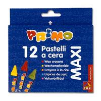 Восковые мелки 10,5х100мм в бумажной обертке 12 цветов51000005Восковые мелки Primo предназначены для рисования на бумаге, картоне и некоторых видах пластика. Мелки отлично передают цвета и имеют широкую гамму оттенков. В наборе 12 цветов: желтый, оранжевый, зеленый, красный, синий, бордовый, коричневый, голубой, черный, фиолетовый, розовый, темно-зеленый. Мелки изготовлены из натуральных компонентов на основе пчелиного воска. Они не осыпаются, не ломаются и ярко рисуют. Такие мелки отлично подойдут для детского творчества.