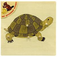 Деревянный пазл Черепаха, 6 элементовР 90Пазл Черепаха - первый пазл вашего малыша. Пазл представляет собой деревянную основу с вынимающимися элементами, при помощи которых ребенок получит изображение черепахи. Пазл - одна из самых доступных игрушек, развивающих логическое мышление, внимание, память, воображение. Такие чудо-картинки очень полезны для развития мышления и познавательных способностей ребенка. По мнению психологов, игра в пазлы способствует развитию образного и логического мышления, произвольного внимания, восприятия, в частности, различению отдельных элементов по цвету, форме, размеру; учит правильно воспринимать связь между частью и целым; развивает мелкую моторику рук.