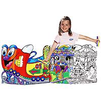 Набор для рисования Carioca Luna Park, 65 предметов8003511415815Набор для рисования Carioca Luna Park, непременно, привлечет внимание вашего маленького художника. Набор включает в себя 48 фломастеров, акварельные краски, кисточку для растушевки, 12 восковых карандашей, панель-раскраска, которая состоит из двух листов с картинками и дополнительный элемент. Игра с набором поможет развить цветовое восприятие, воображение, моторику рук и координацию внимания, логическое мышление. Порадуйте своего непоседу таким замечательным подарком!