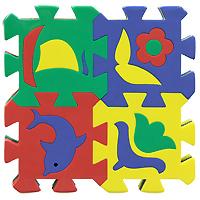 Бомик Пазл для малышей Коврик с силуэтами 12 штук408Коврик-пазл Силуэты непременно понравится вашему малышу и займет его внимание надолго. Красочный и яркий коврик станет любимой площадкой для игры вашего малыша. Коврик состоит из трех элементов, соединяющихся между собой по принципу пазла, каждый из которых содержит в себе вынимающиеся элементы в виде фруктов, цветочков и морских обитателей. Коврик смягчает падение, просто чистится и его легко хранить или перемещать. Яркие цвета и вынимающие элементы коврика способствуют развитию зрительного восприятия малыша.