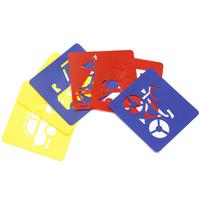 Набор трафаретов пластиковых для пальчиковых красок 6 шт транспорт