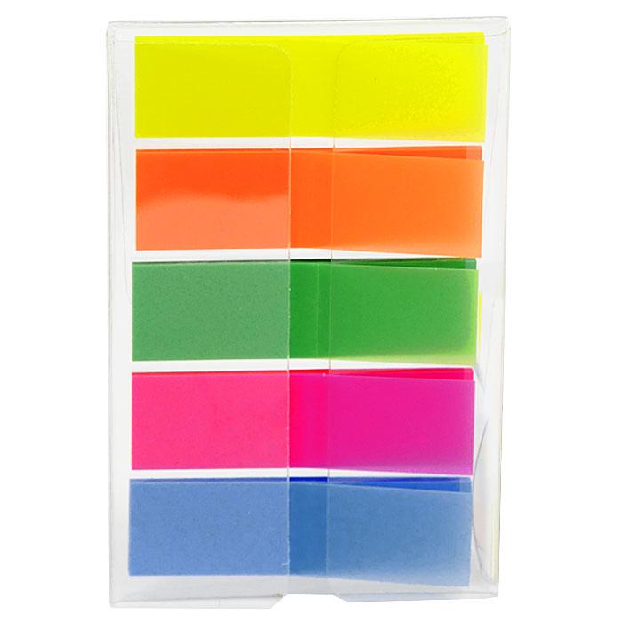 Закладки самоклеящиеся Info, 130 шт772751Многоразовые пластиковые закладки Info с липким слоем - эффективный способ выделить важную информацию без повреждения поверхности документа или книги. В комплекте закладки пяти цветов: желтого, оранжевого, зеленого, розового и голубого. Характеристики: Размер закладки: 1,3 см х 4,3 см. Комплектация: 130 шт.