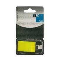 Закладки самоклеящиеся Info, цвет: желтый, 50 шт772805Многоразовые пластиковые закладки Info с липким слоем - эффективный способ выделить важную информацию без повреждения поверхности документа или книги.