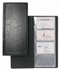 Визитница Visifix, на 128 визиток, цвет: черный2308-01Практичная визитница Visifix в пластиковой фактурной обложке предназначена для хранения и систематизации визитных карт. Внутренний блок на спайке рассчитан на 128 визиток. Характеристики: Материал: кожзаменитель, пластик. Размер визитницы (в закрытом виде): 12 см х 25,2 см х 0,8 см.