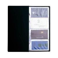 Визитница Panta Plast, на 96 визиток, цвет: черный03-1160-2/ЧернЭлегантная визитница с прозрачными карманами в обложке из высококачественного ПВХ предназначена для хранения и систематизации до 96 визитных карт. Характеристики: Материал: ПВХ, пластик. Размер визитницы (в закрытом виде): 12 см х 24,4 см х 0,4 см.