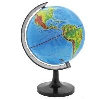 Глобус Rotondo с физической картой мира. Диаметр 14,2 смRG142/PHГеографический глобус Rotondo с физической картой мира станет незаменимым атрибутом обучения не только школьника, но и студента. На глобусе отображены линии картографической сетки, гидрографическая сеть, рельеф суши и морского дна, элементы почвенно-растительного покрова, крупнейшие населенные пункты, теплые и холодные течения. Глобус является уменьшенной и практически не искаженной моделью Земли и предназначен для использования в качестве наглядного картографического пособия, а также для украшения интерьера квартир, кабинетов и офисов. Красочность, повышенная наглядность визуального восприятия взаимосвязей, отображенных на глобусе объектов и явлений, в сочетании с простотой выполнения по нему различных измерений делают глобус доступным широкому кругу потребителей для получения разнообразной познавательной, научной и справочной информации о Земле. Характеристики: Общая высота: 24 см. Диаметр глобуса: 14,2 см. Масштаб: 1:90000000. Размер упаковки: ...