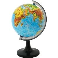Глобус Rotondo с физической картой мира. Диаметр 20 смRG20/PHГеографический глобус Rotondo с физической картой мира станет незаменимым атрибутом обучения не только школьника, но и студента. На глобусе отображены линии картографической сетки, гидрографическая сеть, рельеф суши и морского дна, элементы почвенно-растительного покрова, крупнейшие населенные пункты, теплые и холодные течения. Глобус является уменьшенной и практически не искаженной моделью Земли и предназначен для использования в качестве наглядного картографического пособия, а также для украшения интерьера квартир, кабинетов и офисов. Красочность, повышенная наглядность визуального восприятия взаимосвязей, отображенных на глобусе объектов и явлений, в сочетании с простотой выполнения по нему различных измерений делают глобус доступным широкому кругу потребителей для получения разнообразной познавательной, научной и справочной информации о Земле. Характеристики: Общая высота: 31 см. Диаметр глобуса: 20 см. Масштаб: 1:63000000. Размер упаковки: ...