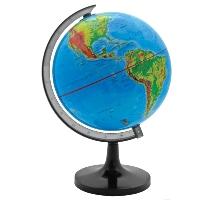 Глобус Rotondo с физической картой мира. Диаметр 32 смRG32/PHГеографический глобус Rotondo с физической картой мира станет незаменимым атрибутом обучения не только школьника, но и студента. На глобусе отображены линии картографической сетки, гидрографическая сеть, рельеф суши и морского дна, элементы почвенно-растительного покрова, крупнейшие населенные пункты, теплые и холодные течения. Глобус является уменьшенной и практически не искаженной моделью Земли и предназначен для использования в качестве наглядного картографического пособия, а также для украшения интерьера квартир, кабинетов и офисов. Красочность, повышенная наглядность визуального восприятия взаимосвязей, отображенных на глобусе объектов и явлений, в сочетании с простотой выполнения по нему различных измерений делают глобус доступным широкому кругу потребителей для получения разнообразной познавательной, научной и справочной информации о Земле.