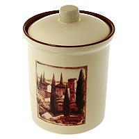 Банка для продуктов Terracota Итальянская деревня 0,9 л TLY301-3-V-ALTLY301-3-V-ALБанка Итальянская деревня, выполненная из жаропрочной керамики и покрытая высококачественной глазурью, станет незаменимым помощником на кухне. В ней будет удобно хранить разнообразные сыпучие продукты, такие как кофе, крупы, макароны или специи. Емкость легко закрывается крышкой. Оригинальный дизайн позволит сделать такую емкость отличным подарком на любой праздник. Характеристики: Материал: керамика. Объем: 0,9 л. Диаметр основания: 10 см. Высота (без крышки): 13 см. Высота (с крышкой): 16 см. Размер упаковки: 12 см х 16,5 см х 12 см. Изготовитель: Китай. Артикул: TLY301-3-V-AL.