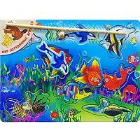 Развивающая игра Рыбалка. Р65Р65Развивающая игра Рыбалка, изготовленная из клееной фанеры, позволит вашему ребенку почувствовать себя настоящим рыбаком. Игра включает в себя основу, 8 фигурок рыб и удочку. Для каждой фигурки в основе есть углубление, которое подходит только для нее. Удочка и рыбки снабжены магнитами, благодаря которым ребенок и будет рыбачить. При помощи удочки подцепите любую рыбку и вытаскивайте. Игра развивает у ребенка мелкую моторику рук, внимание, память, логическое и пространственное мышление и координацию движений.