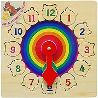 Развивающая игра-пазл Часы радугаР01Развивающая игра-пазл Часы радуга, изготовленная из экологически чистой древесины, состоит из игрового поля-основы и 12 фигурок с изображением цифр. Для каждой фигурки с цифрой в основе есть углубление, которое подходит только для нее. Ребенку предстоит правильно расставить все фигурки на основе. Все фигурки имеют удобный пластиковый держатель, благодаря которому ребенок без труда сможет установить их в соответствующее отверстие. Игра позволит вашему ребенку научиться считать и понимать время. Игра развивает логическое мышление, цветовое восприятие, мелкую моторику рук и сообразительность.