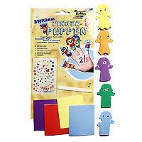 Набор для создания пальчиковых игрушек ДетиF2361Набор для создания пальчиковых игрушек Дети непременно понравится вашему ребенку и займет его внимание надолго. В этом наборе целый кукольный театр, забавных актеров для которого можно создать своими руками, используя предложенные фигурки и декоративные элементы. Готовые фигурки надеваются на пальцы и - готово! Можно устраивать домашние представления. В наборе пять фигурок мальчиков и девочек. Игра с набором развивает мелкую моторику и усидчивость, формирует художественный вкус и успокаивает.