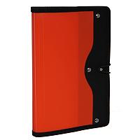 Визитница Index, на 120 визиток, цвет: красныйICH45Современная практичная и вместительная визитница в обложке из высококачественного полипропилена с тканевой окантовкой и застежкой-резинкой рассчитана на 120 визиток.