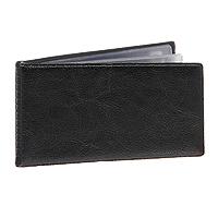 Визитница Panta Plast, на 24 визитки, цвет: черный03-0755-2/ЧернКомпактная карманная визитница предназначена для хранения 24 визитных карт. Прозрачный внутренний блок на спайке. Обложка выполнена из высококачественного винила. Характеристики: Материал: винил, пластик. Размер визитницы (в закрытом виде): 7,3 см х 11,7 см х 0,5 см.